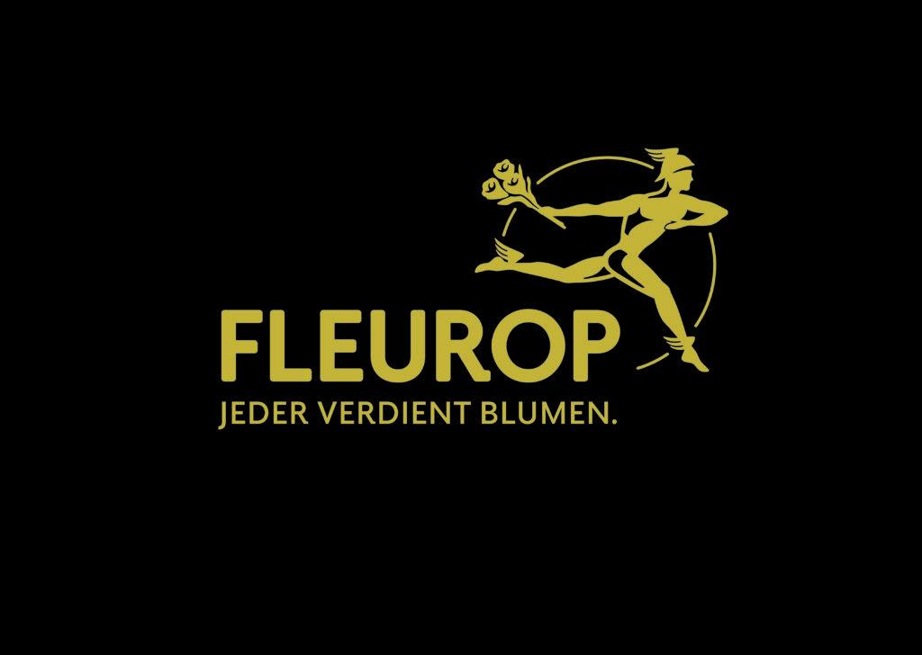 Fleurop Logo Jeder verdient Blumen.